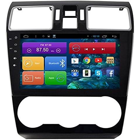 Top Navi 9inch 1024* 600Android 4.4PC Auto Player per Subaru Forester xv auto di navigazione GPS WIFI Bluetooth Radio 1,2GB CPU DDR3Capacitivo Touch Screen 3G car stereo audio rubrica RDS AUX Specchio link 16GB Quad Core