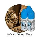 MA POTION - Lot de 3 E-Liquide TABAC Gipsy King, Eliquide Français Ma Potion, recharge cigarette électronique. Sans nicotine ni tabac