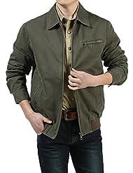 THWS Los hombres chaquetas chaqueta casual silvestres de solapa, padre de mediana edad ropa