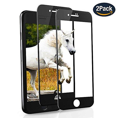 Panzerglas Schutzfolie für iphone 7 8 9H Gehärtetes Glas 2 Stück SANFEE Vollständige Abdeckung Ultra HD Clear Kratzfest Einfach zu Installieren Gebogene Folie für Apple iPhone 7 iPhone 8