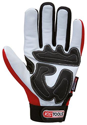 KS Tools 310.0250 Leder-Mechaniker-Handschuh, L - 4