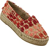 Guess Women Rosina Embroidered Espadrilla Coral 40