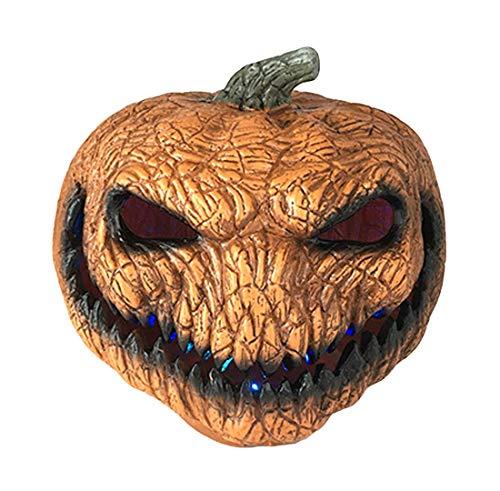 Halloween plastica arancione elettronica zucca luce divertente mostro zucca luce vestire fantasma festival puntelli disposizione evento location decorazione in maschera festa carnevale illuminazione d
