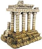 Wave templo griego adorno de acuario, tamaño mediano
