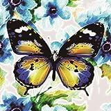 BaZhaHei 5D Stickerei Gemälde Strass Kleben DIY Diamant Malerei Kreuzstich Painting für Home Schmetterling 25 * 25cm