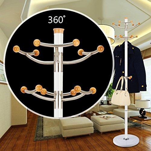 SKC Lighting-Porte-manteau Base en caoutchouc Porte-manteau en acier inoxydable Crochet en aluminium en alliage colonne amovible (Couleur : Blanc)