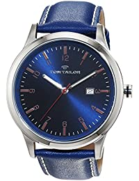 TOM TAILOR Watches Herren-Armbanduhr Analog Quarz Leder 5415003