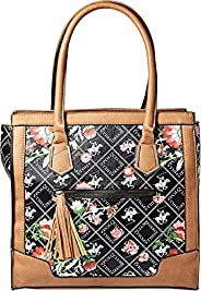BHPC Womens Satchel Bag, BLACK - BHVE1598