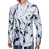 Uomo Tuta Moda, Uomini Camicie T Shirt Uomo A Manica Lunga Stampa Uomo Manica Lunga Uomo Camicetta Giacche Casual da Uomo Maglione Moda Felpa da Uomo T Shirt Slim Fit T Shirt Qinsling