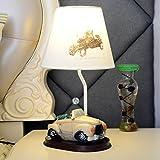 &Leselicht Kinder-Tischlampe, Schlafzimmer Nachttischlampe Kreative Mode Reizende Kinder Tisch Tischlampe ( Farbe : D )