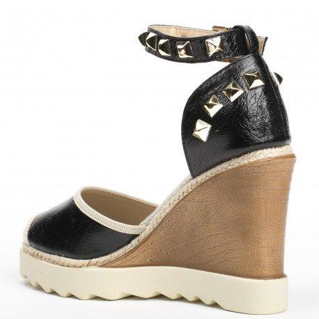 Et De Effet Ideal Craquelé Incrustées Shoes Sandales Compensées CoBrxeWQd