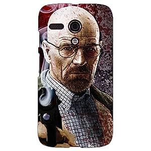 Jugaaduu Breaking Bad Heisenberg Back Cover Case For Moto G (1st Gen)