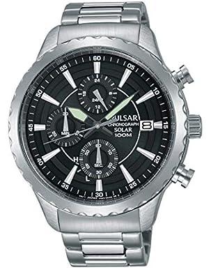 Pulsar PZ6013X1 - Reloj de Pulsera para Hombre (Acero Inoxidable, Funciona con energía Solar)