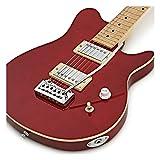 Guitare électrique Santa Monica + Pack complet Rouge transparent