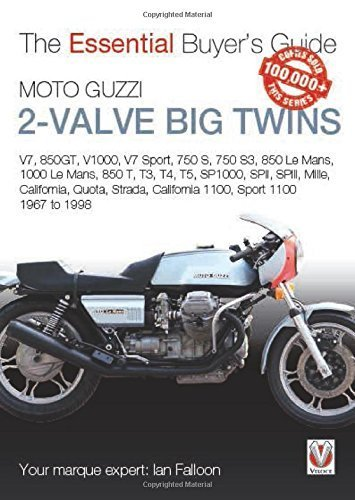 Moto Guzzi 2-Valve Big Twins: V7, 850gt, V1000, V7 Sport, 750 s, 750 S3, 850 Le Mans, 1000 Le Mans, 850 t, T3, T4, T5, Sp1000, Spii, SpiiI, Mille, ... ... 1100: 1967-1968 (Essential Buyer's Guide) by Ian Falloon (2015-03-14)