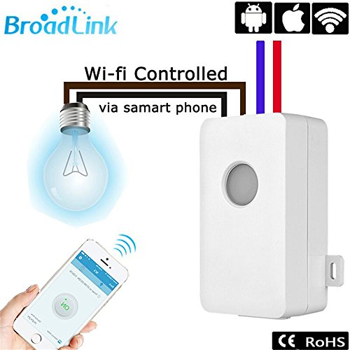 broadlink SC1 WiFi Remote Control Light Switch Kit VS Smart Home Automatisierung Kabellose Timer 10 A 4-Loch Terminal Intelligente Steckdose remoted Per Telefon (1 PCS) (Wifi Remote Licht)