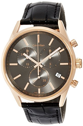 Calvin Klein Men's Analogue Quartz Watch with Leather Strap K4M276C3