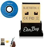 EkoBuy® Bluetooth 4.0 USB Dongle Adapter for PC with Gold Plated USB, Bluetooth