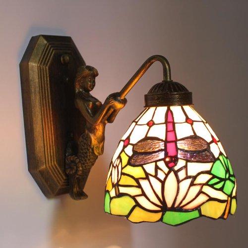 Uncle Sam LI - européennes feux terrasse de jardin libellule paroi chaude lampe de chevet de la chambre de l'allée reflètent les lumières