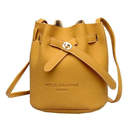 Styledress Shoulder Bag Messenger Bags Beuteltasche Women's Backpack Handbags Damen Handtasche Schultertasche Umhängetaschen Handbag School Bag Cross Body Bag for Women (Gelb)