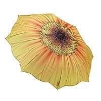 Galleria Floral Design Auto Folding Tote Umbrella - Sunflower Bloom