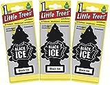 #6: Bicyclism Little Trees Car Air Freshener Black Ice 3 Pcs Maruti Suzuki Alto K10
