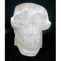 Healing Crystals India Natürlicher klarer Quarz handgeschnitzter Totenkopf Antik-Handarbeit Edelstein Statue 10,2 cm preisvergleich bei billige-tabletten.eu