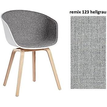 hay hay aac 22 weiss aac about a chair schalenstuhl frontgepolstert 123 remix grau. Black Bedroom Furniture Sets. Home Design Ideas