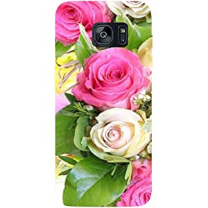 Casotec Rose Flowers Design Hard Back Case Cover for Samsung Galaxy S7 Edge