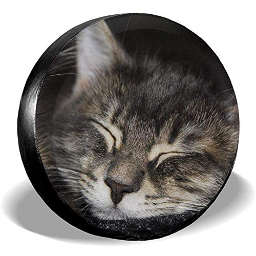 LAURE Tire Cover Animali Gatto Tabby S Dream Face Close1 Copricerchi Copertura di scorta Universale per Pneumat