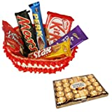The Chocolate Basket With 24 Pcs Ferrero Rocher