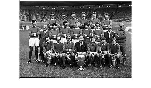 Man Utd 1968 European Cup Winners Team Group Poster