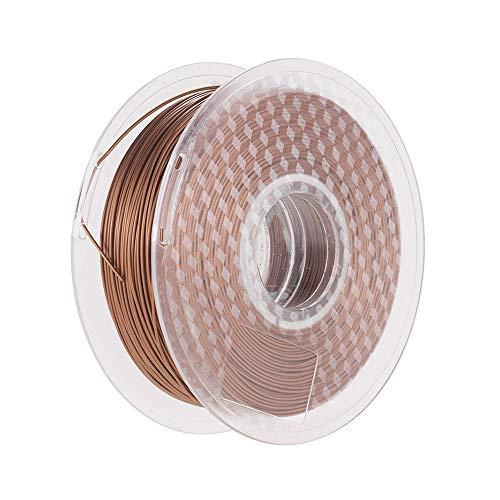 Metall Kupfer PLA Filament 1,75 mm 3D-Drucker Füllfilament 1 kg Spulen-Maßgenauigkeit +/- 0,02 mm Glänzendes 3D-Druckmaterial Verbrauchsmaterial für 3D-Drucker
