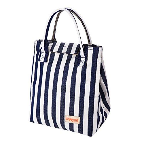 Borsa pranzo termica lunch box impermeabile borsa porta pranzo tote cooler bag per ufficio uomo e donna da pingenaneer (blu)