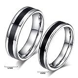 #2: Couple rings for love jwelleries for women finger rings for girls 2 piece couple bandALRG0276KA