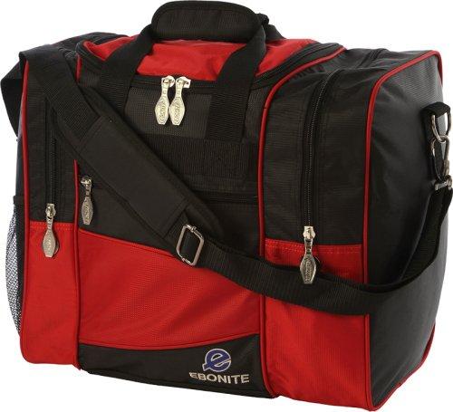 Ebonite Bowling Bag, stoßfest, Schwarz/Rot (Bowling Bag Für Einen Ball)