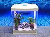HRC-320 weiß Nano Aquarium Komplettaquarium Mini Aquarium Filteranlage Nanoaquarium Komplett Filter Beleuchtung
