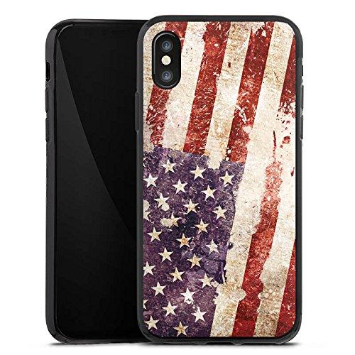 Apple iPhone 6 Hülle Case Handyhülle United States of America Amerika USA Flagge Silikon Case schwarz