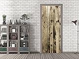 GRAZDesign 791675_80x205 Tür-Tapete Holzmuster Braun | Aufkleber Fürs Wohnzimmer | Tür - Klebefolie Selbstklebend (80x205cm//Cuttermesser)