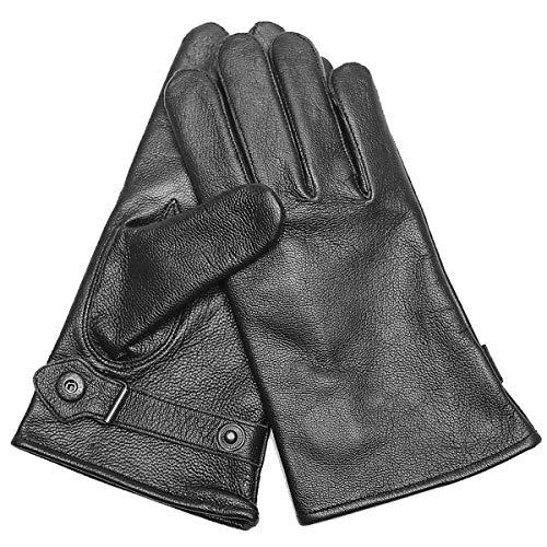 MIL-TEC BW Lederhandschuhe gefüttert (Schwarz/M)