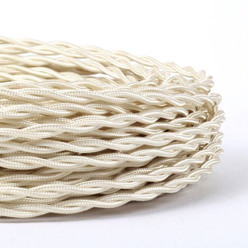 mlca003-2-core-ivory-antique-twisted-braided-woven-silk-fabric-lamp-flexible-cable