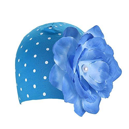 Sannysis Nette Babys Blumen-Hüte Winter Herbst (Blau)