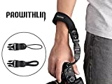 Prowithlin Universal Neoprene Camera Wrist Strap Hand Strap with 2 Quick Release Clips for DSLR / SLR CANNON SONY Fuji etc