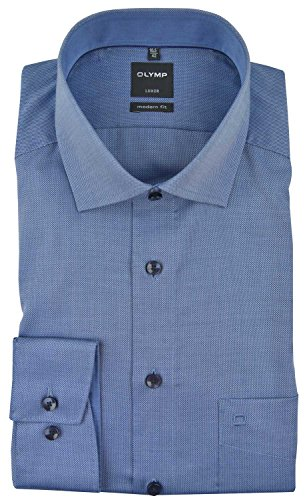OLYMP Herren Hemden Modern Fit Langarm blau (51) 42