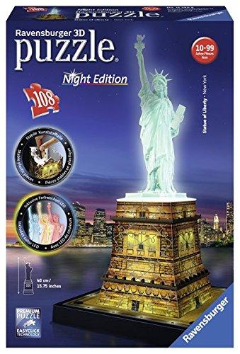 Preisvergleich Produktbild Freiheitsstatue bei Nacht: Erleben Sie Puzzeln in der 3. Dimension