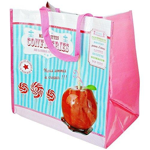 Promobo -Cabas Shopping Sac Pour Courses Imprimé Gourmand Pomme D'amour