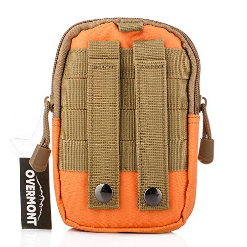 Overmont Multifunktional Taktisch Hüfttasche Gürteltasche Outdoor Sport Tasche Beutel für Camping Wandern Radfahren Klettern und Reisen Orange