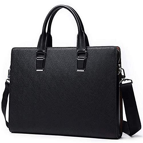 MLpus Aktentasche im europäischen Stil Herren Business Stereotypen Cross-Body Handtasche Herren Leder Travel Messenger Bag (Farbe : SCHWARZ) - Europäische Aktentasche