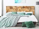 Kopfteil Bett Pegasus Rechtecke aus Holz | Verschiedene Maße 200x60cm |...