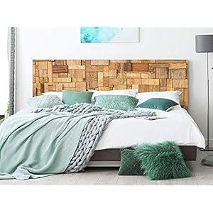 Kopfteil Bett PVC Rechtecke aus Holz | Verschiedene Maße 100x60cm | Einfache Platzierung | Raumdekoration…